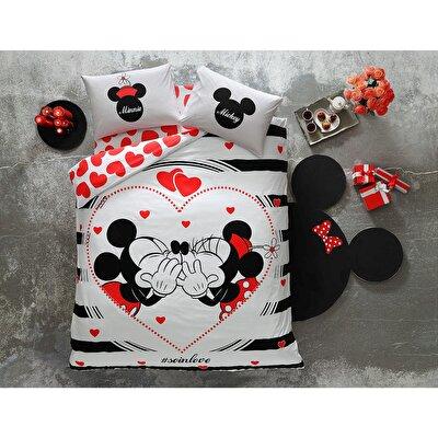 Resim Taç Disney Minnie&Mickey Amour Çift Kişilik Nevresim Takımı