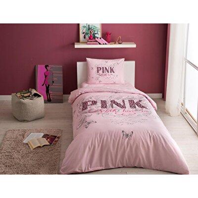 Resim Taç Pink Nevresim Takımı