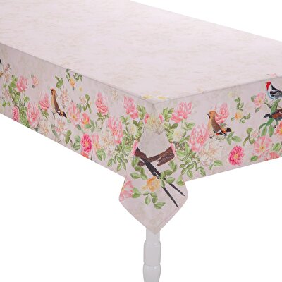 Resim Linens Floral Masa örtüsü