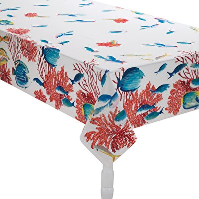 Resim Linens Mercan Masa örtüsü