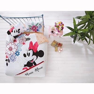 Resim Taç Disney Minnie&Mickey Watercolor Çift Kişilik Nevresim Takımı
