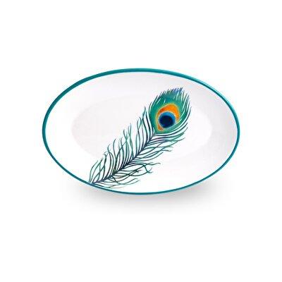 Resim Linens Peacock Kayık Tabak