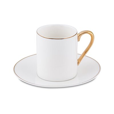 Resim Bianca Luna Sweet Gold 6'lı Kahve Fincan Seti