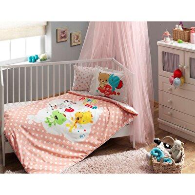 Resim Taç Fisher Price Baby Girl Bebek Nevresim Takımı