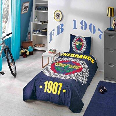 Resim  Fenerbahçe Marşlı Logo Tek Kişilik Yatak Örtüsü