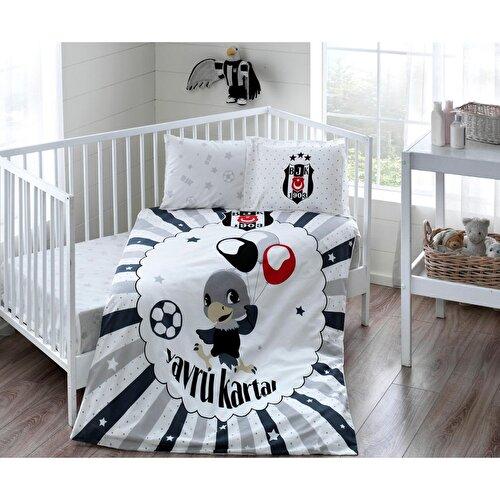 Resim Taç Beşiktaş Ballon Baby Bebek Nevresim Takımı