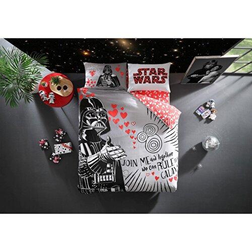 Resim Taç Star Wars Valentine's Day Ranforce Çift Kişilik Nevresim Takımı