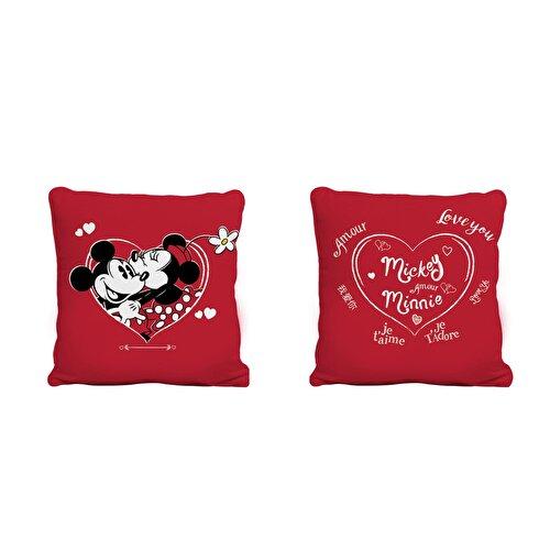Resim Disney Minnie&Mickey Amour Kırlent