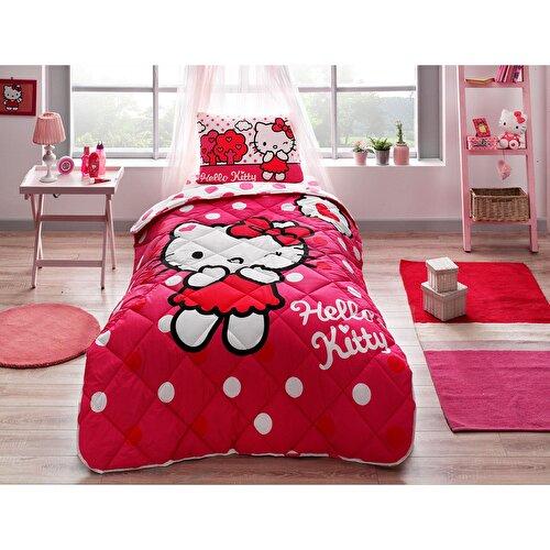 Resim Taç Hello Kitty Yorgan Seti
