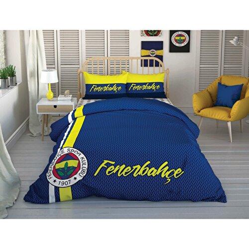 Resim Taç Fenerbahçe Striped Çift Kişilik Nevresim takımı