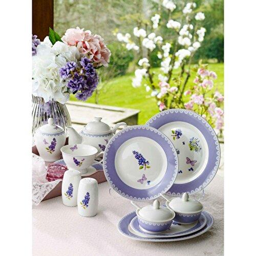Resim Pierre Cardin Purple Flower 6 Kişilik 49 Parça Kahvaltı Takımı