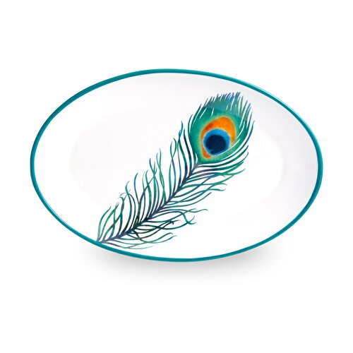Resim  Peacock Kayık Tabak