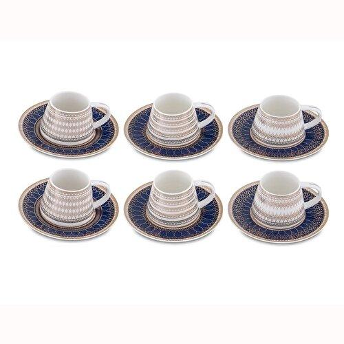 Resim Bianca Luna Smart Blue 6'lı Kahve Fincan Takımı