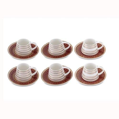Resim Bianca Luna Smart Red 6'lı Kahve Fincan Takımı