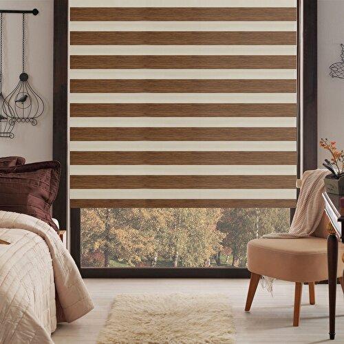 Resim Taç Inova Kendini Temizleyen Bambu Zebra Stor Perde / 250TL (m²)