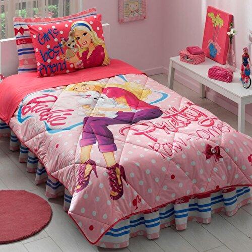 Resim Taç Barbie Pretty Tek Kişilik Uyku Seti
