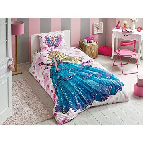 Resim Taç Barbie Dream Tek Kişilik Nevresim Takımı