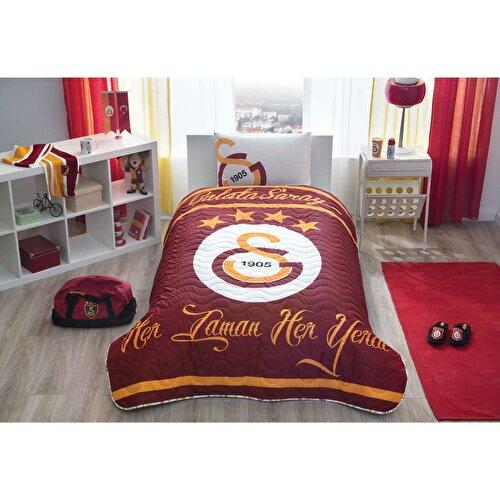 Resim  Gs Logo Tek Kişilik Yatak Örtüsü