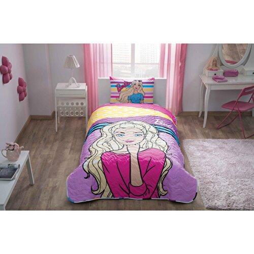 Resim  Barbie Dream Tek Kişilik Yatak Örtüsü