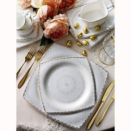 Resim Pierre Cardin Carolina 12 Kişilik 60 Parça Bone China Yemek Tak