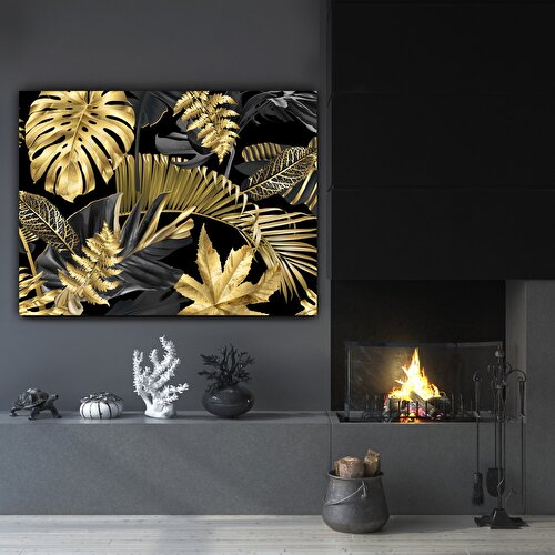 Resim Nouvelle  Abstract Leafs Tablo