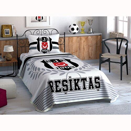 Resim Taç Beşiktaş Black And White Tek Kişilik Pike Takımı