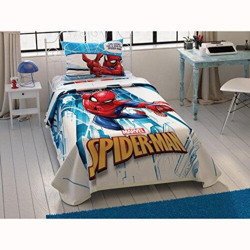 Resim Taç Spiderman City Tek Kişilik Pike Takımı