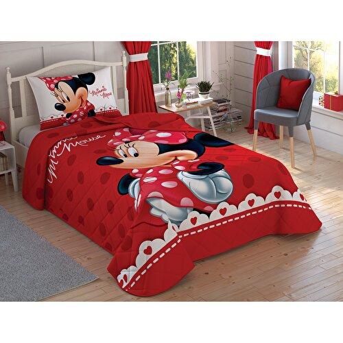 Resim Taç Disney Minnie Lovely Tek Kişilik Yatak Örtüsü