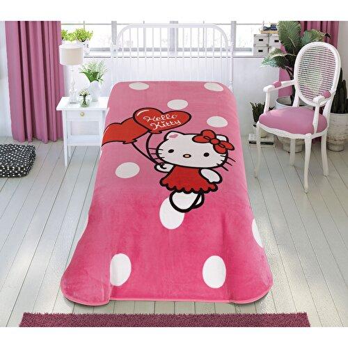 Resim Hello Kitty Cute Tek Kişilik Battaniye