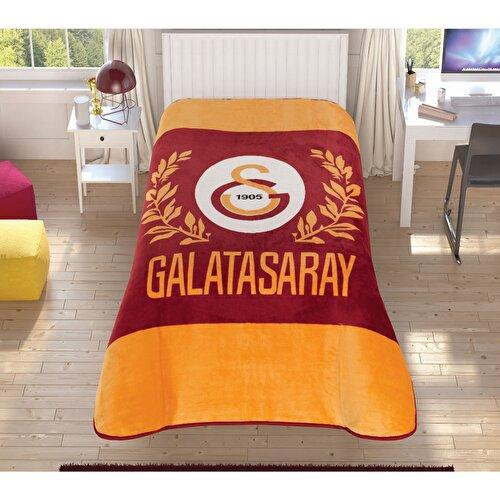 Resim Galatasaray Sarı Kırmızı Tek Kişilik Battaniye